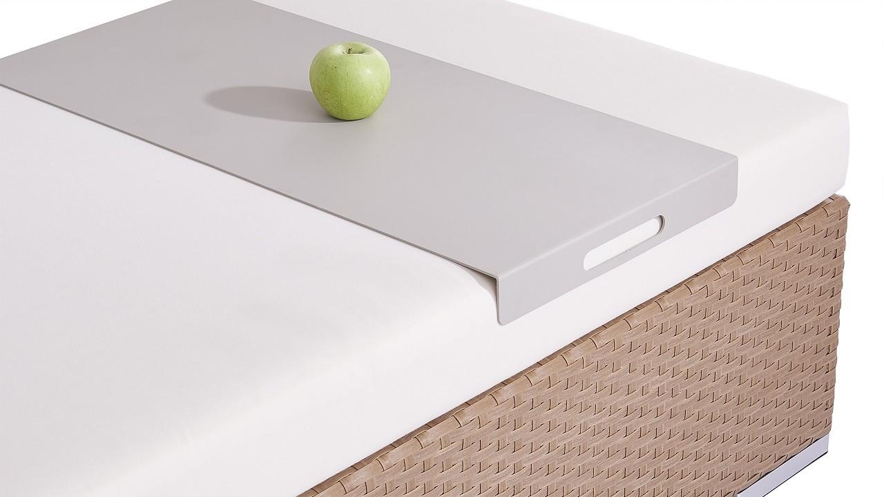 Alu Tablett für Cube, Dominica und Silva Hocker bis 75 cm - seidengrau