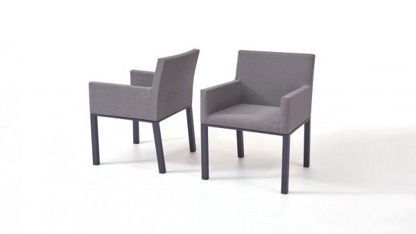chaise en tissu Pad, 2 pièces - gris-brun