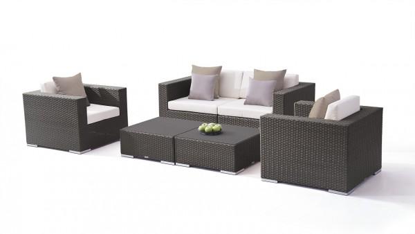 Polyrattan seating group set tapa - anthracite