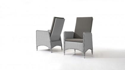 chaise en polyrotin Doona, 2 pièces - gris satiné