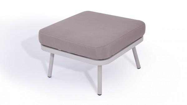 Aluminium stool marina - silk grey