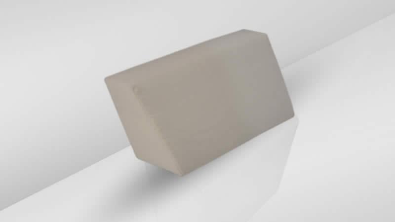 Cube Seitenauflage, rechts - graubraun