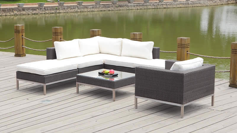 polyrattan lounge big dijon weiss living zone gartenmoebel living zone. Black Bedroom Furniture Sets. Home Design Ideas