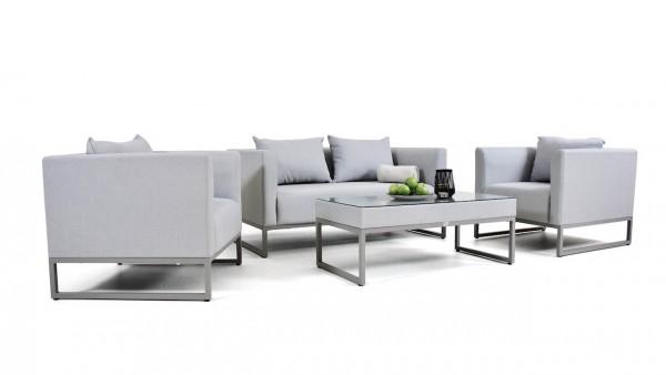 Textilene seating group set lino - silk grey