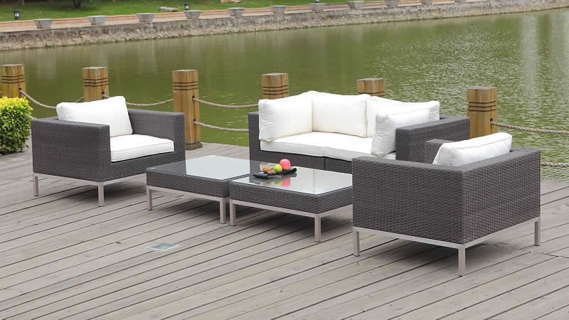 polyrattan lounge le havre living zone gartenmoebel. Black Bedroom Furniture Sets. Home Design Ideas