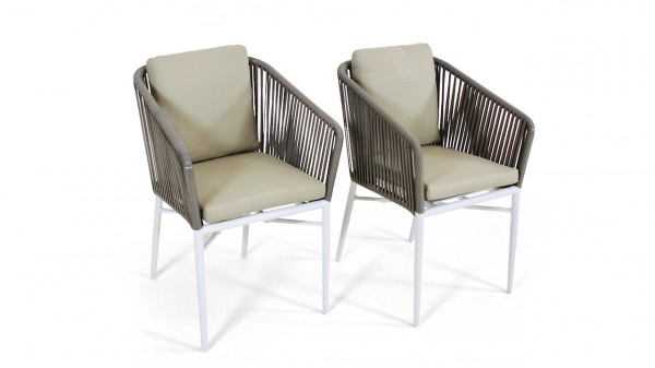Rope Stuhl U, 2 Stück - weiß