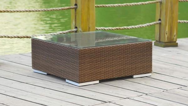 Polyrattan Cube Tisch 75 cm - java