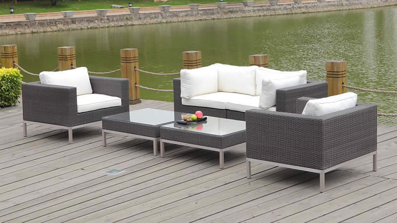 Polyrattan lounge le havre living zone gartenmoebel for Gartenmobel gunstig lounge