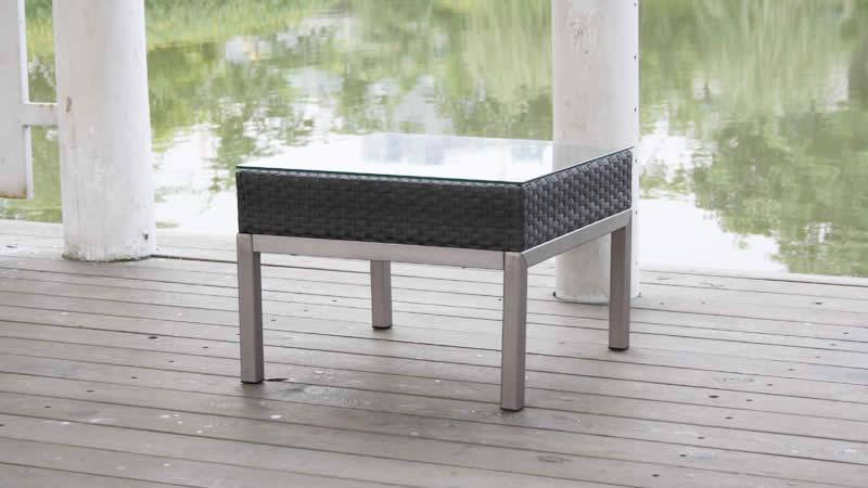 kl silva rattan tisch weiss living zone gartenmoebel. Black Bedroom Furniture Sets. Home Design Ideas