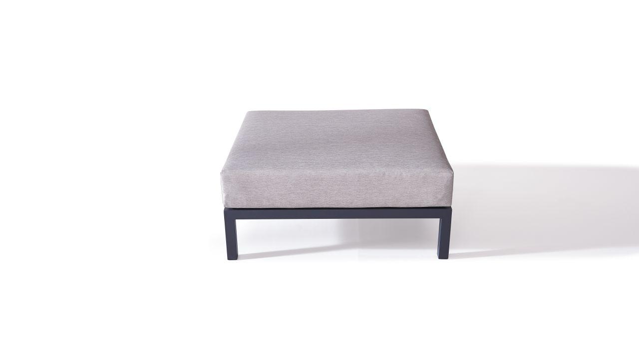 Alu Plaza Hocker 78 cm anthrazit Aluminium Lounge Modul in Anthrazit