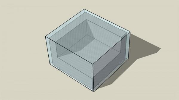 Bâche Cube canapé extrèmité