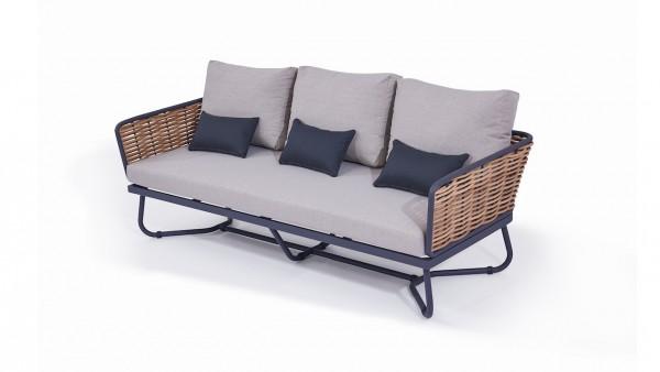 Polyrattan Sofa Astra 205 cm - honig