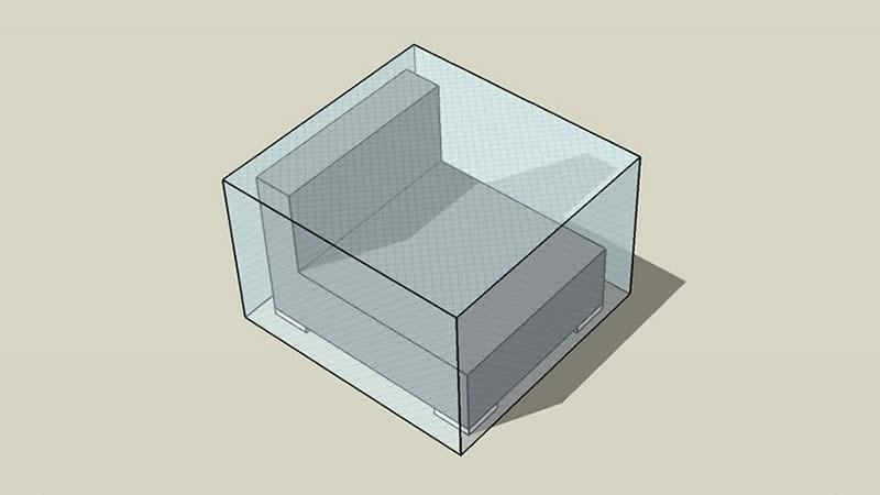 Abdeckplane Cube Mittelsofa