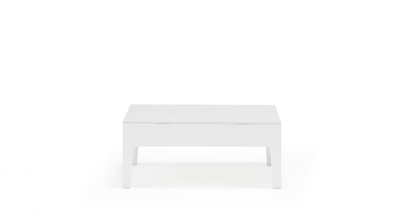 Alea Tisch Glas - weiß