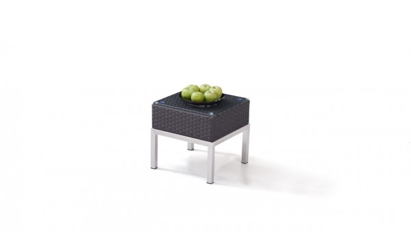 Polyrattan stainless steel silva table 42 cm - anthracite