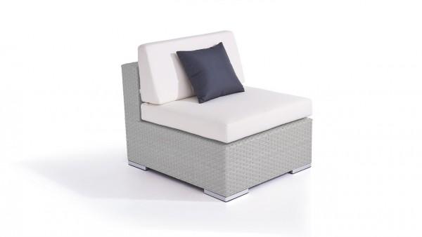 module central de canapé en polyrotin Cube - gris satiné