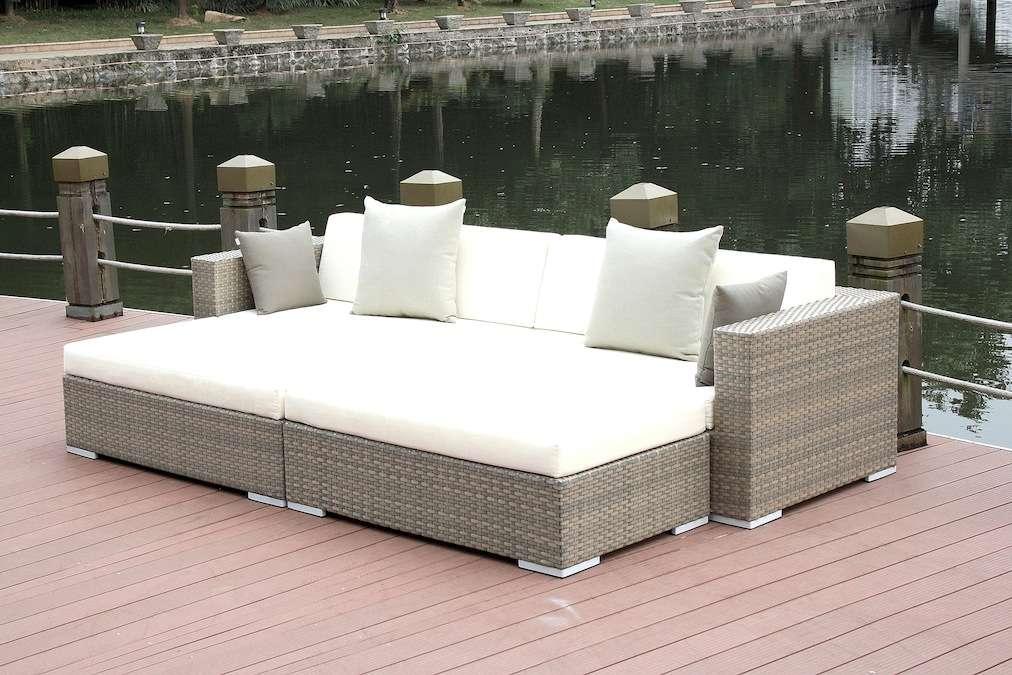 Polyrattan Lounge Dreamcatcher Grau Living Zone Gartenmoebel | LIVING ZONE