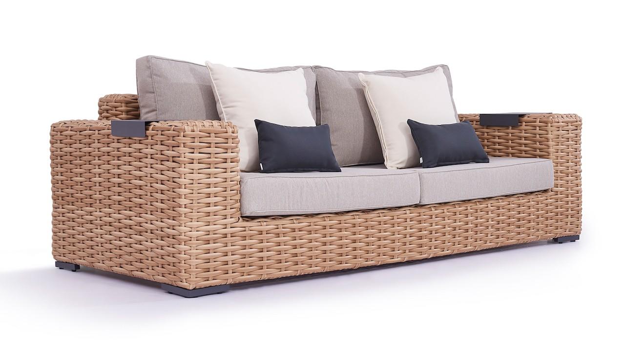 Polyrattan Sofa Molly 235 cm - honig /ab 17.05.2019