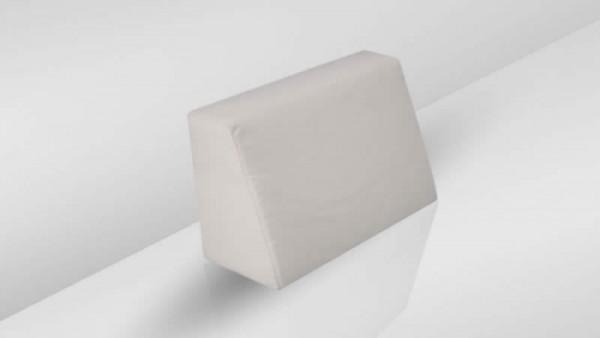 Cube coussin dorsal 75 cm - crème