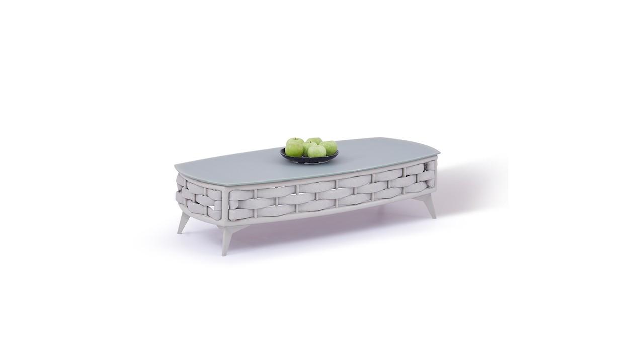 Alu Tisch Coco 126 cm - seidengrau