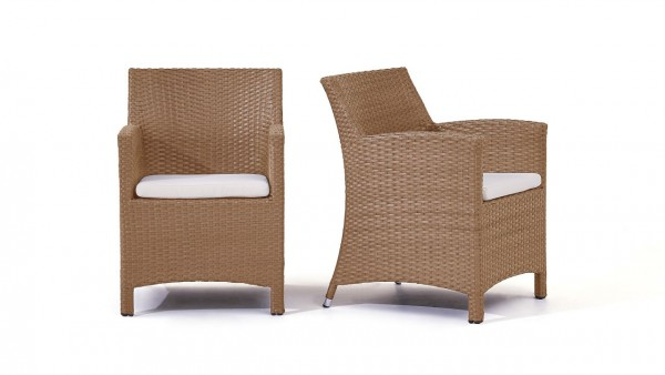 polyrotin chaise Mulee, 2 pièces- caramel