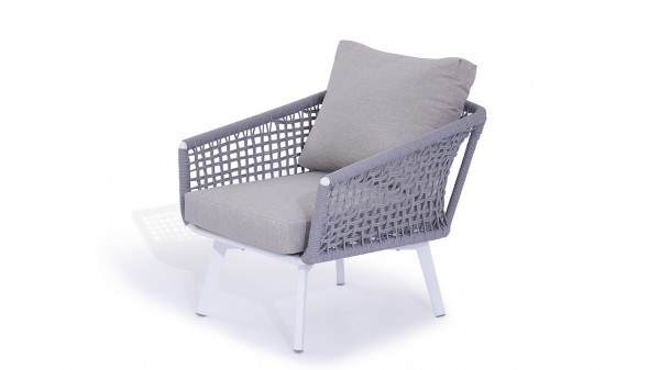 Rope armchair diva - silk grey