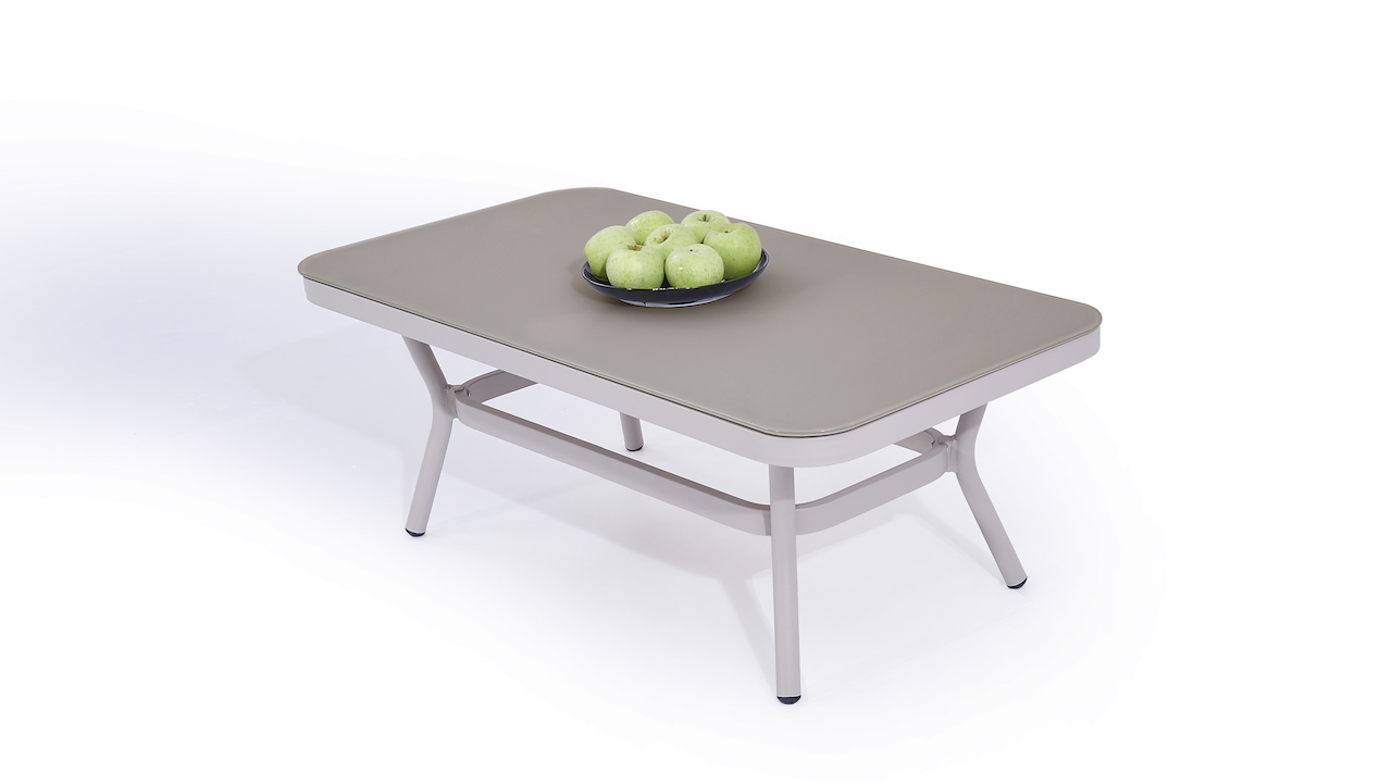 table en alu Marina - gris soie
