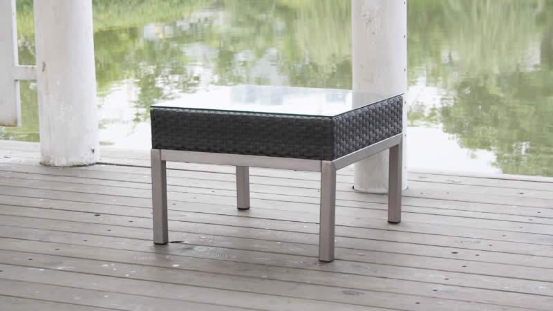 Polyrattan Aluminium Silva Tisch 42 cm - java