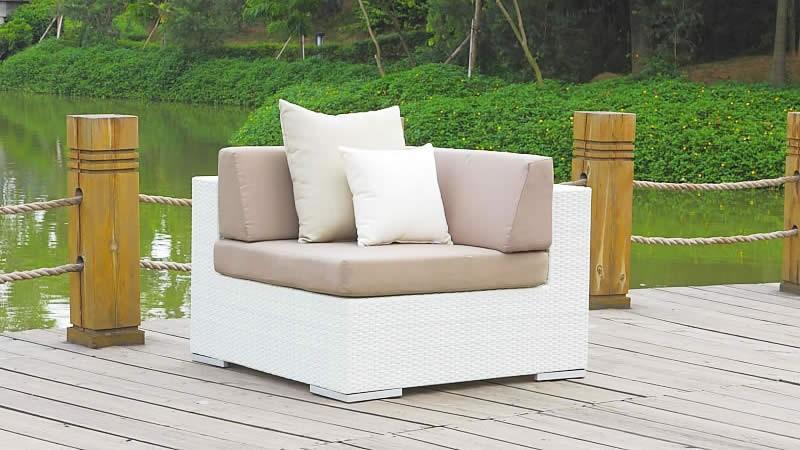 polyrattan cube ecksofa weiss living zone gartenmoebel living zone. Black Bedroom Furniture Sets. Home Design Ideas