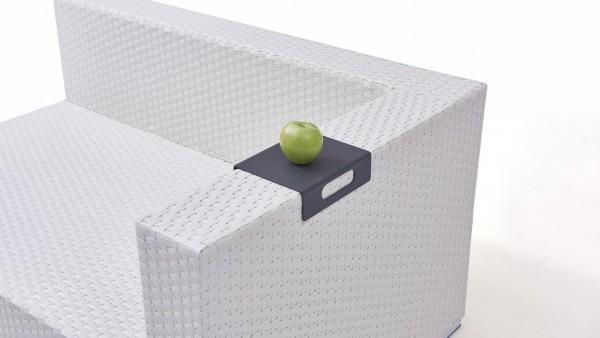 Aluminium tablett for cube armrest - silk grey