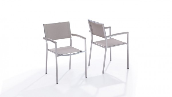 "Inox chaise ""Tex A"" (2x) - beige"